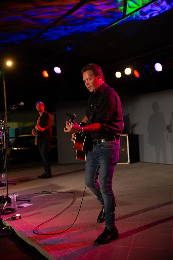 Troy Cassar Daley performing on stage