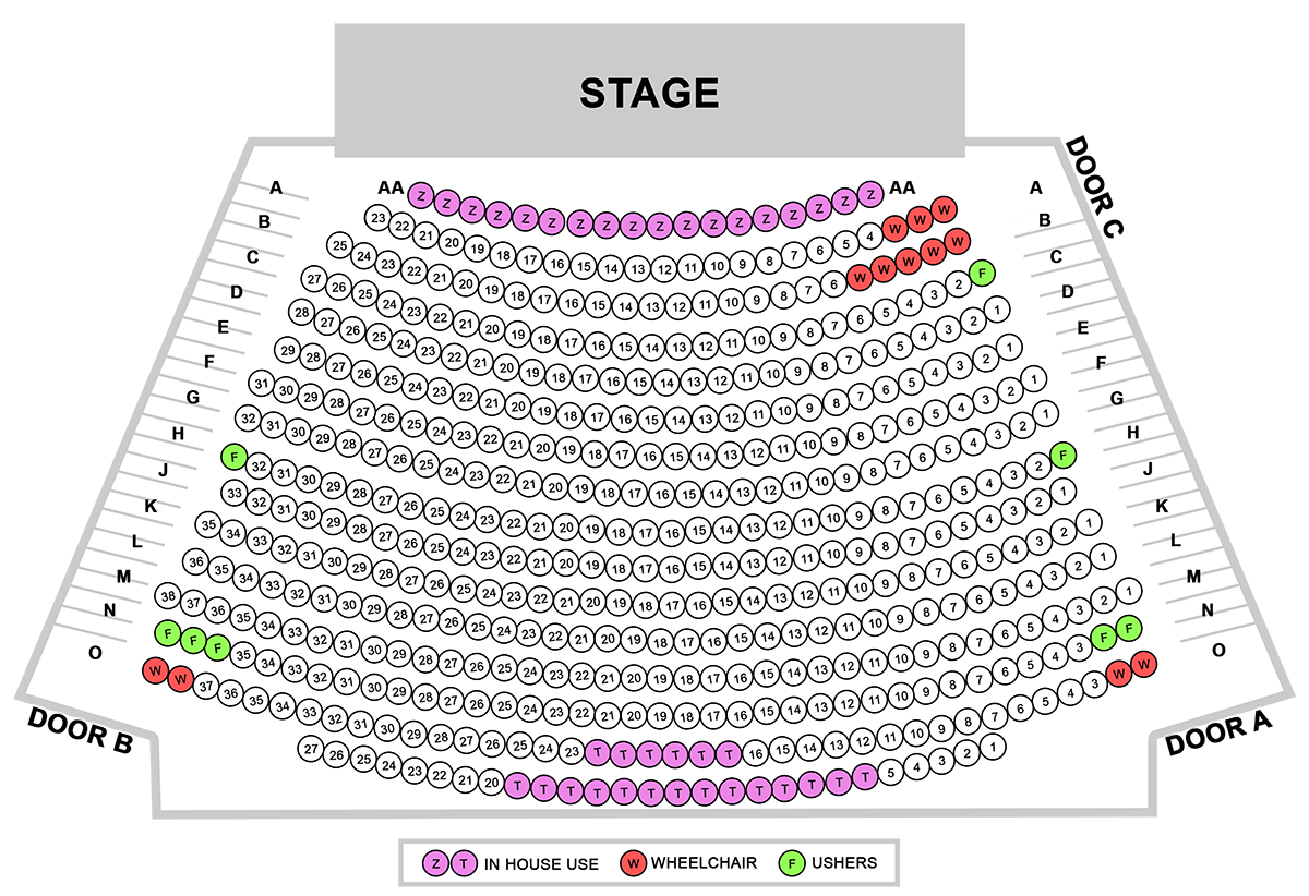 Burdekin Theatre - Stage map 1 \